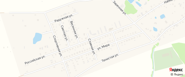 Российская улица на карте села Фирсово с номерами домов