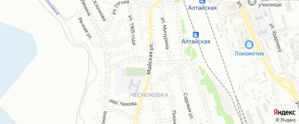 Пожарный переулок на карте Новоалтайска с номерами домов