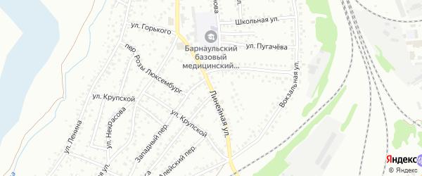 Линейная улица на карте Новоалтайска с номерами домов