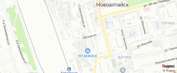 Обская улица на карте Новоалтайска с номерами домов