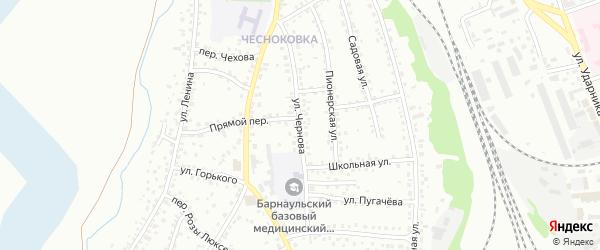 Улица Чернова на карте Новоалтайска с номерами домов