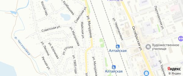 Улица Мичурина на карте Новоалтайска с номерами домов