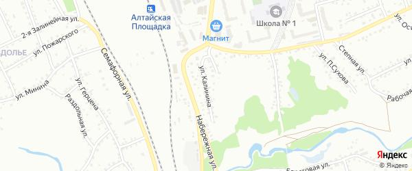 Улица Калинина на карте Новоалтайска с номерами домов