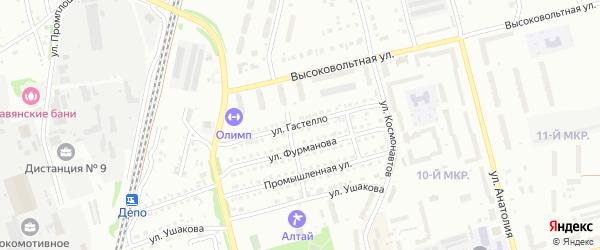 Улица Гастелло на карте Новоалтайска с номерами домов