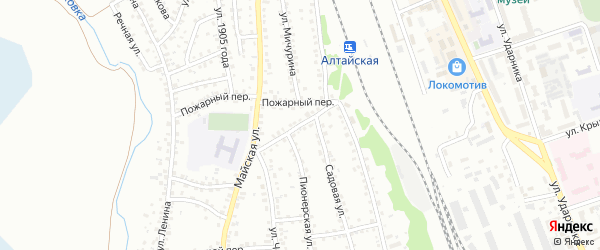 Комсомольская улица на карте Новоалтайска с номерами домов