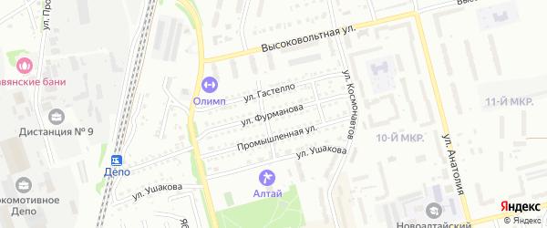 Улица Фурманова на карте Новоалтайска с номерами домов