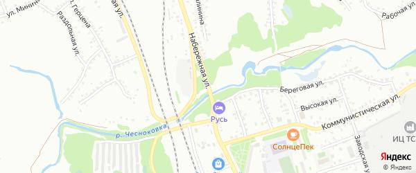 Набережная улица на карте Новоалтайска с номерами домов