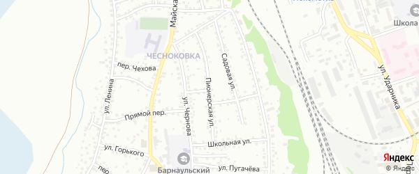 Пионерская улица на карте Новоалтайска с номерами домов