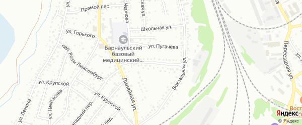 Железнодорожная улица на карте Новоалтайска с номерами домов