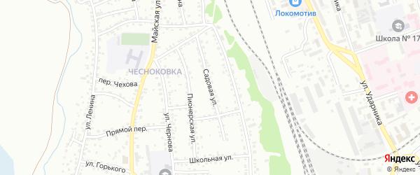 Садовая улица на карте Новоалтайска с номерами домов