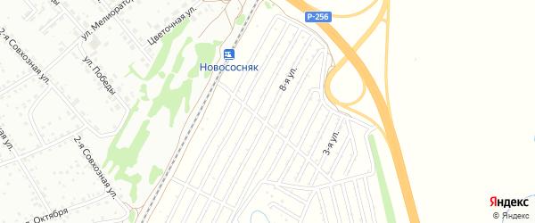 7-я линия на карте садового некоммерческого товарищества Домостроителя с номерами домов