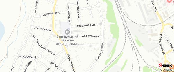 Улица Пугачева на карте Новоалтайска с номерами домов