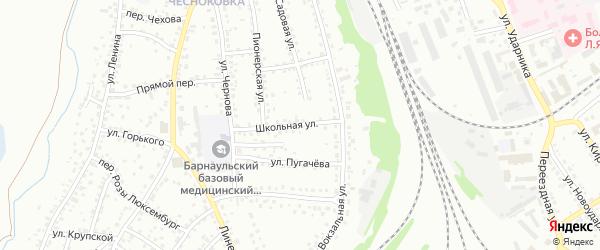 Школьная улица на карте Новоалтайска с номерами домов
