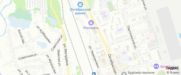 Переулок Крутой взвоз на карте Новоалтайска с номерами домов
