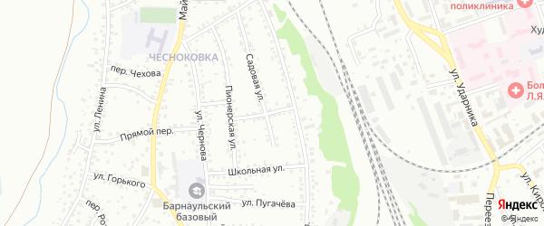 Чумышский переулок на карте Новоалтайска с номерами домов