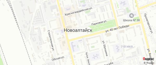 Овражный переулок на карте Новоалтайска с номерами домов
