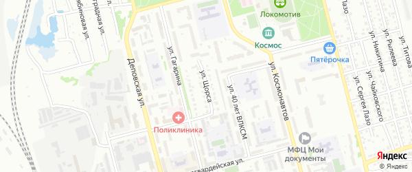 Улица Щорса на карте Новоалтайска с номерами домов