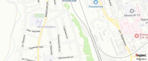 Вокзальная улица на карте Новоалтайска с номерами домов