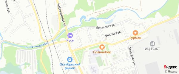 Трудовой переулок на карте Новоалтайска с номерами домов