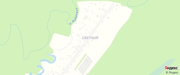 Светлый микрорайон на карте села Бобровки с номерами домов