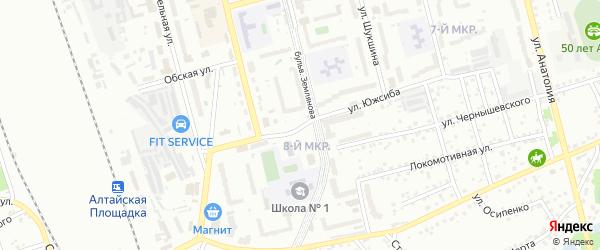 Улица 8 микрорайон на карте Новоалтайска с номерами домов