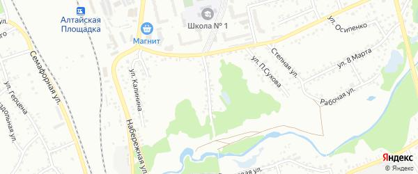 Улица Парижской Коммуны на карте Новоалтайска с номерами домов