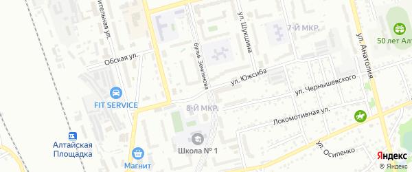 Бульвар им Землянова на карте Новоалтайска с номерами домов