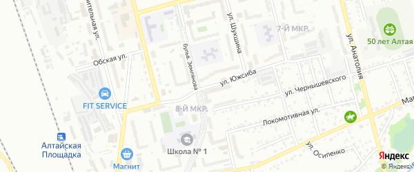 Улица Южсиба на карте Новоалтайска с номерами домов