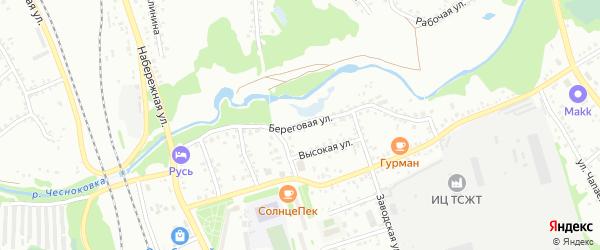 Береговая улица на карте Новоалтайска с номерами домов