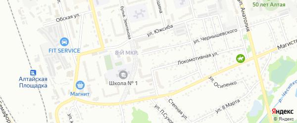 Гаражная улица на карте Новоалтайска с номерами домов