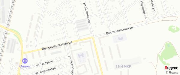 Высоковольтная улица на карте Новоалтайска с номерами домов