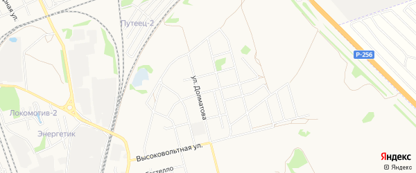 Карта Северного микрорайона города Новоалтайска в Алтайском крае с улицами и номерами домов