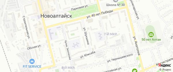 Улица Шукшина на карте Новоалтайска с номерами домов