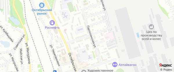 Барнаульская улица на карте Новоалтайска с номерами домов