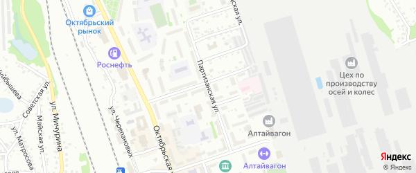 Партизанская улица на карте Новоалтайска с номерами домов
