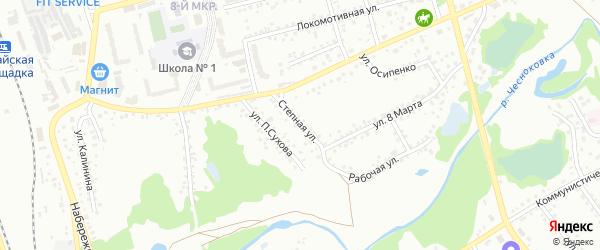 Степная улица на карте Новоалтайска с номерами домов
