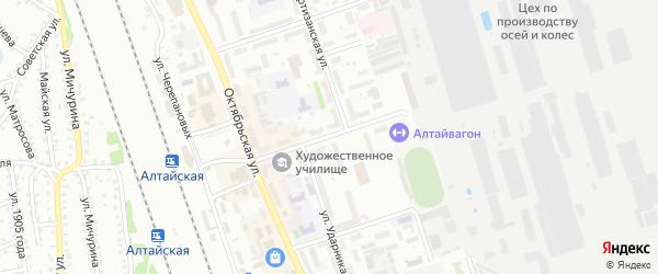 Улица 22 Партсъезда на карте Новоалтайска с номерами домов