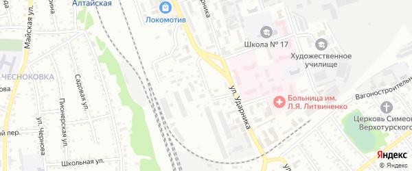 Улица Заготзерно на карте Новоалтайска с номерами домов