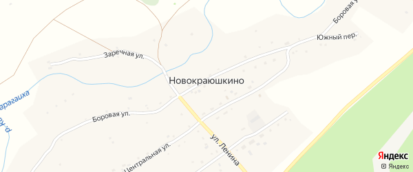 Боровая улица на карте села Новокраюшкино с номерами домов