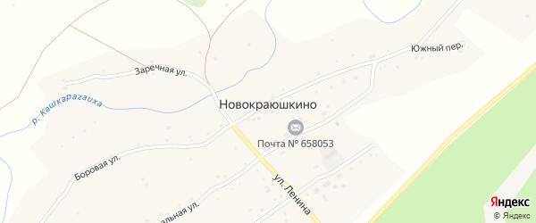 Дачная улица на карте села Новокраюшкино с номерами домов