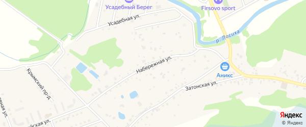 Набережная улица на карте села Фирсово с номерами домов