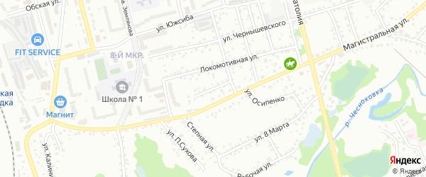 Моторная улица на карте Новоалтайска с номерами домов