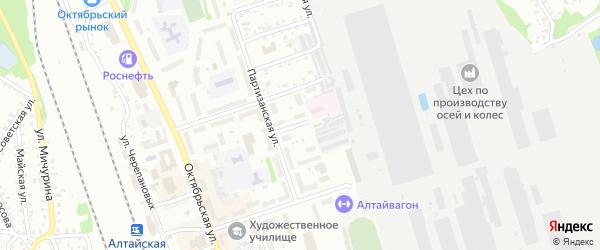 Улица 9 Января на карте Новоалтайска с номерами домов