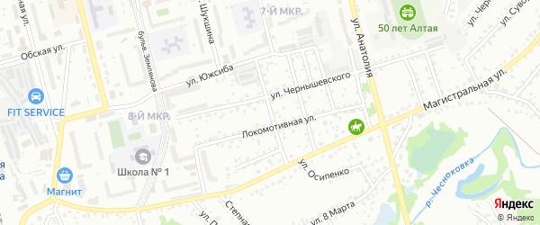 Нагорный переулок на карте Новоалтайска с номерами домов