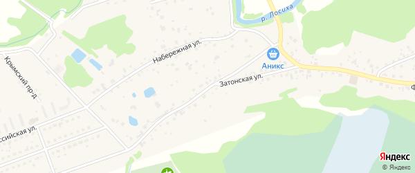 Затонская улица на карте села Фирсово с номерами домов