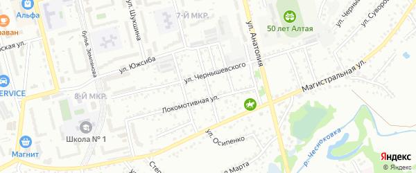 Заречный переулок на карте Новоалтайска с номерами домов