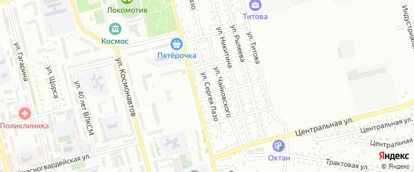 Улица С.Лазо на карте Новоалтайска с номерами домов