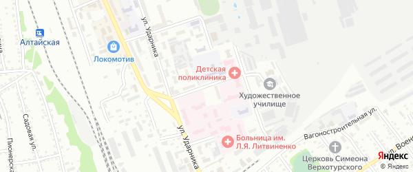 Улица Крылова на карте Новоалтайска с номерами домов