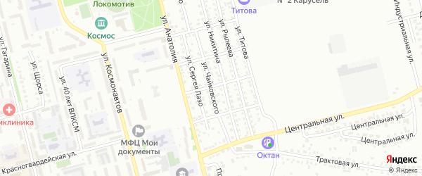 Улица Чайковского на карте Новоалтайска с номерами домов
