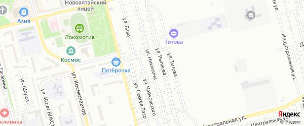 Улица Никитина на карте Новоалтайска с номерами домов